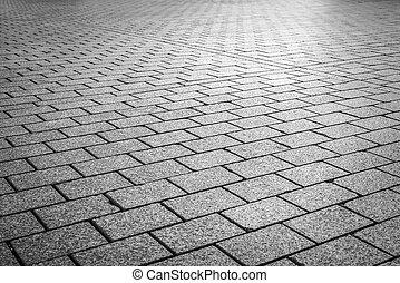 cegła, kamień, ulica, road.