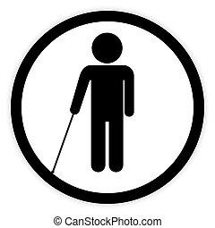 cego, incapacitado, button.