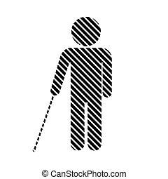 cego, incapacitado, sinal.