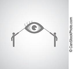 cego, símbolo, homens