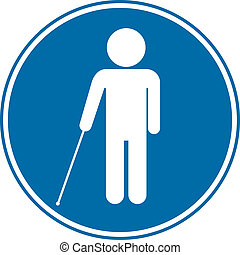 cego, sinal incapacitado