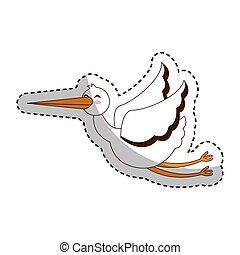 cegonha voando isolado ícone voando isolado ilustração