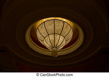 ceiling a chandelier in yellow