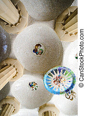 ceiling at park guell