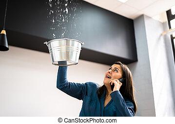 Ceiling Damage Water Leak In House