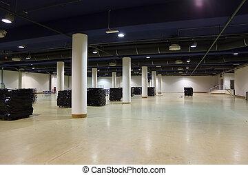 ceiling., equipo, ventilación, iluminación, grande, ...