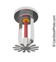 Ceiling Fire Sprinkler isolated on white - 3d illustration