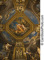 Ceiling fresco in the Vatican Museum, Rome, Italy.