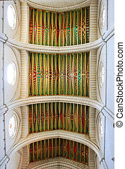 ceiling in the Cathedral of Almudena