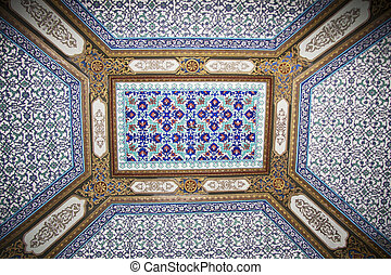 Ceiling in the Topkapi, Palace, Istanbul, Turkey