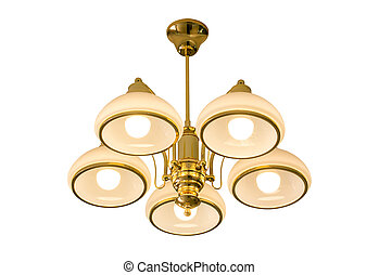 Ceiling lamp isolated on white with clipping path