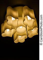 Ceiling lamp on dark background