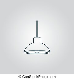 ceiling lamp. Vector.