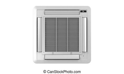 Ceiling mounted air conditioner blowing cold air