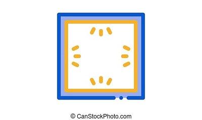ceiling multi perimeter lighting Icon Animation. color ceiling multi perimeter lighting animated icon on white background