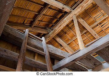 Ceiling of barn