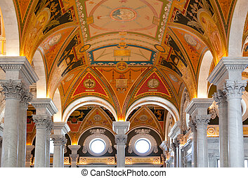 Ceiling of Library Congress in Washington DC
