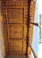 Ceiling of madrassa in Khiva, Uzbekistan
