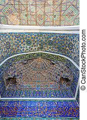 Ceiling of mosaic, Samarkand Registan, Uzbekistan