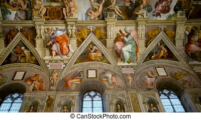 Ceiling of Sistine Chapel in Vatican City - Vatican City, ...