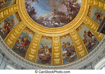 Ceiling of the Invalides in Paris, France
