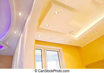 Photo of the shined ceiling with original design
