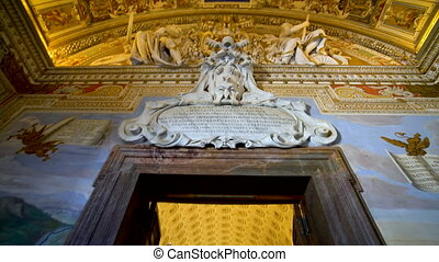 Ceiling Sculpture in the Vatican Museums