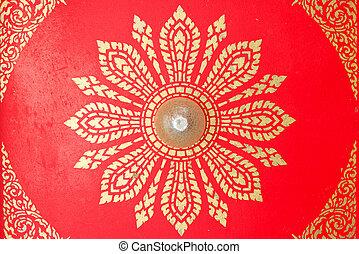 Ceiling  - The exquisite Thai ceiling in Thai pattern.