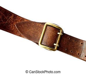 ceinture, naturel, cuir
