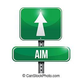 cel, projektować, droga, ilustracja, znak