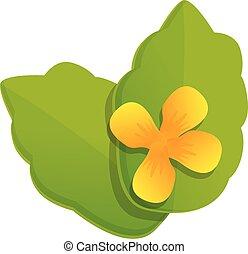 Celandine herb flower icon. Cartoon of celandine herb flower vector icon for web design isolated on white background