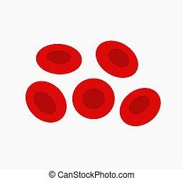 celas, erythrocytes, vermelho, sangue