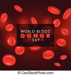 celas, rbc, sangue, fundo, vermelho