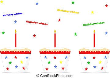 celebração aniversário, bolos