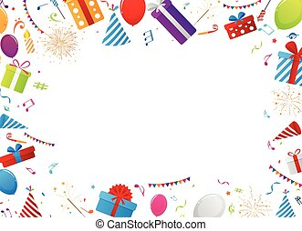 celebração aniversário, elementos
