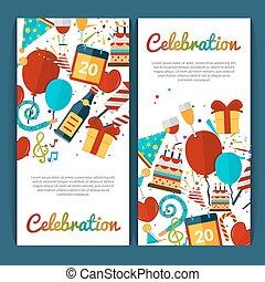celebração, bandeiras, jogo