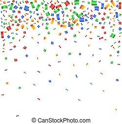 celebração, coloridos, fundo, confetti.