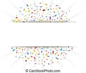 celebração, confetti, com, papel
