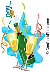celebração, ilustração