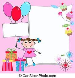 celebração, ou, cartão, convite