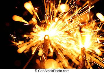 celebração, sparklers