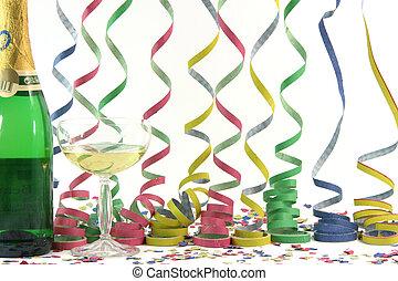 celebração, streamers