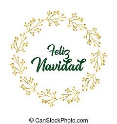 celebración, cita, letras, feliz, navidad, translated, o, ...
