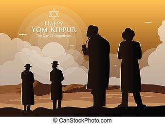 celebración, concepto, yom kippur