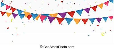 celebración cumpleaños, bandera