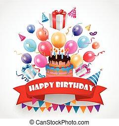 celebración cumpleaños, plano de fondo