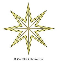 celebración, estrella, elemento