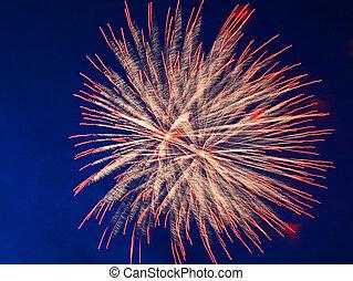 celebración, fuegos artificiales