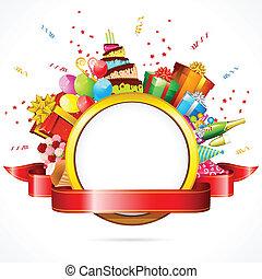 celebración, tarjeta