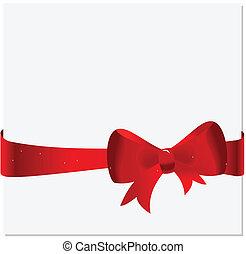 celebración, tarjeta, con, cinta, y, arco